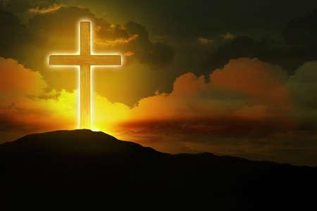 山の上まで輝くクロス