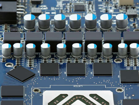 diode: Motherboard with diode and microchips