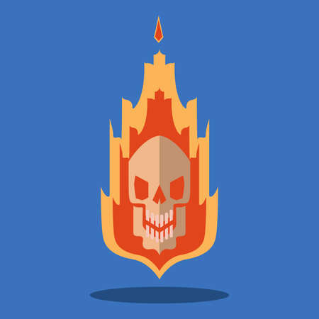 The fiery skull was so terrifying that it would appear when a large fire broke out