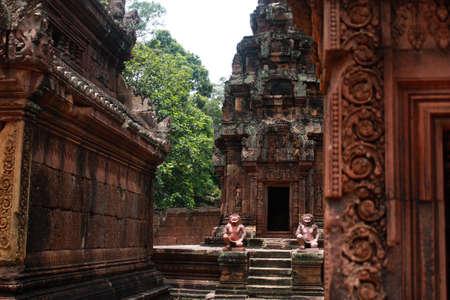 siem reap: Temples near Angkor Wat in Siem Reap, Cambodia.