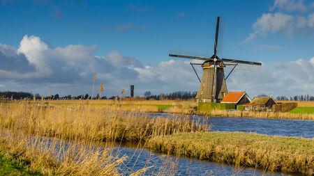 Dutch typical windmill photo