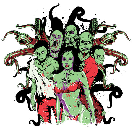Zombie team Illustration