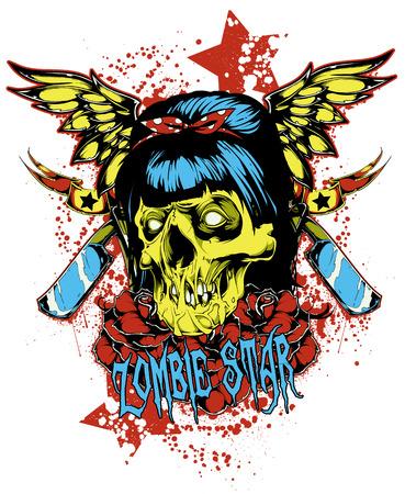 Zombie star Illustration