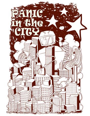 Panic city Illustration