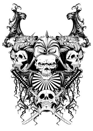 Skulls Stock Illustratie
