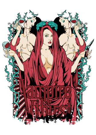 Vampire queen Vectores