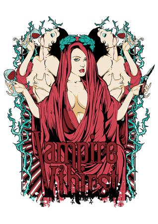 Vampire queen 向量圖像