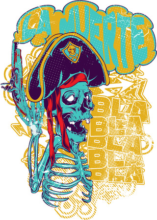 Pirate skull image illustration