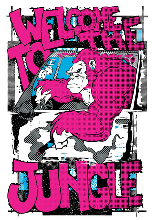 Welcome to the jungle poster vector illustration. For t-shirt design purposes