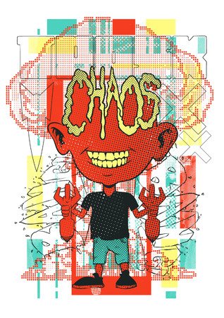 That boy did a massive chaos vector illustration. For t-shirt design purposes
