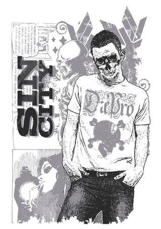 Posing skeleton Illustration