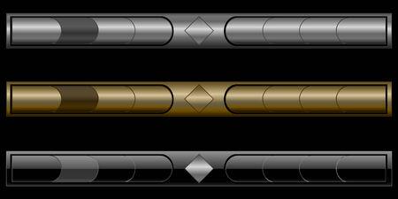 A set of three stylish navigation bars Vector