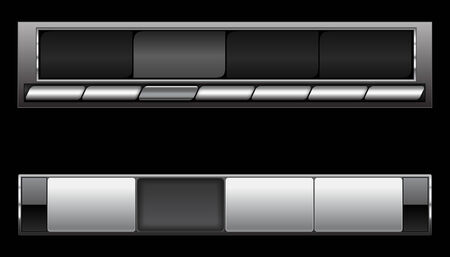 steel bar: A pair of smart looking futuristic navigation bars