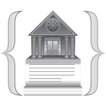 A vector icon of script library Stock Photo - 6169404