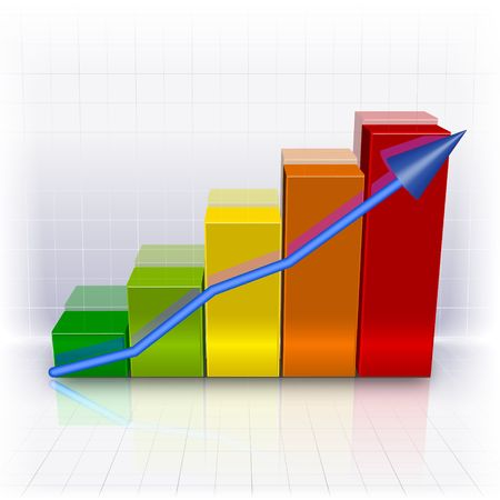 A graph showing consistent negative progress or success. photo