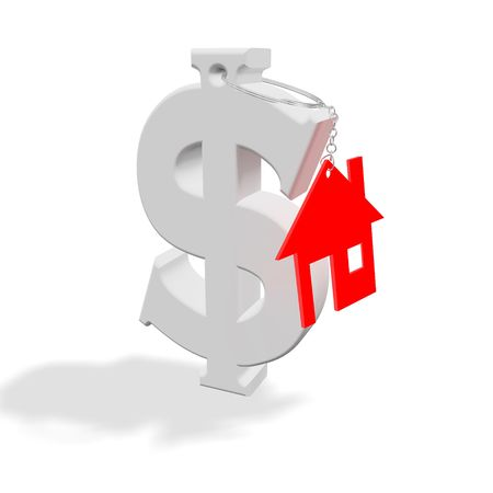 Abstract conceptual representation of property, housing, finance and real estate matters. photo