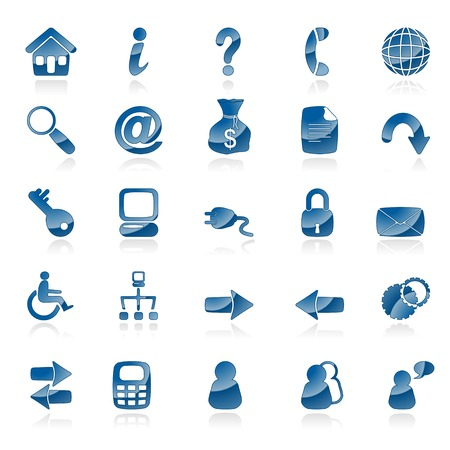 accessibility: A set of 25 common web icons Illustration