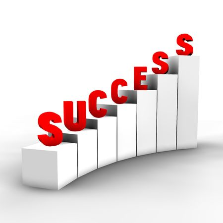 steps to success: A concept of an abstract way to success in the competitive world of business or real life. Stock Photo