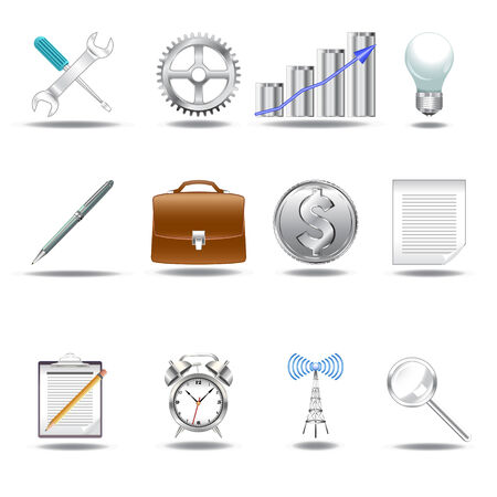 A set of 12 smart 3D icons Vector