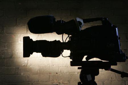 film production: Broadcast Camera Stock Photo