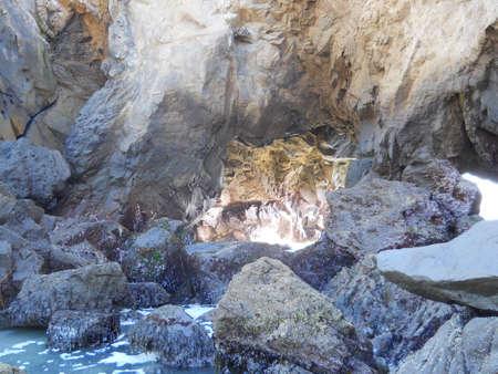 big sur: Pfeiffer Beach in Big Sur CA Rock Cave