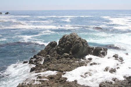 big sur: California Big Sur Waves Crashing Stock Photo