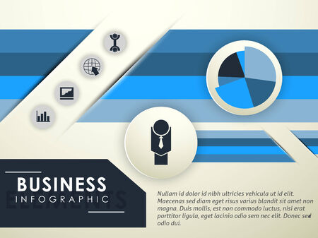 catalog: Zakelijke infographic catalogus Stock Illustratie