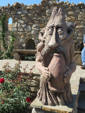 wooden creature original sculpture Reklamní fotografie