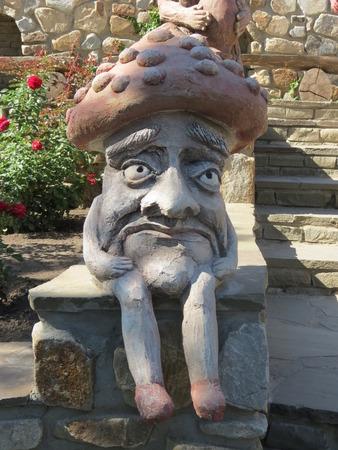 Fantasy mushroom sculpture Reklamní fotografie