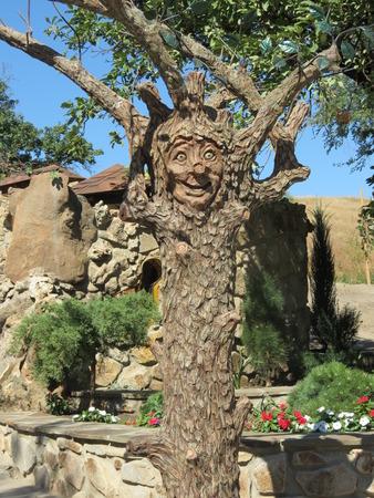 Wooden fantasy creature sculpture Reklamní fotografie