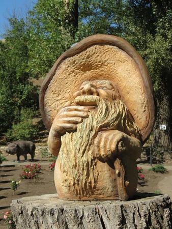 Fantasy creature mushroom sculpture