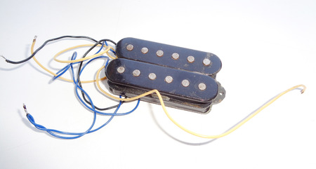 Vintage Electric Guitar Pickup Stock Photo