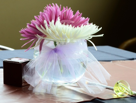 Party decorations and favors at a baby shower photo