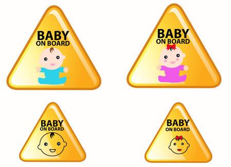 bebe a bordo: Beb� en la Muestra de la tarjeta