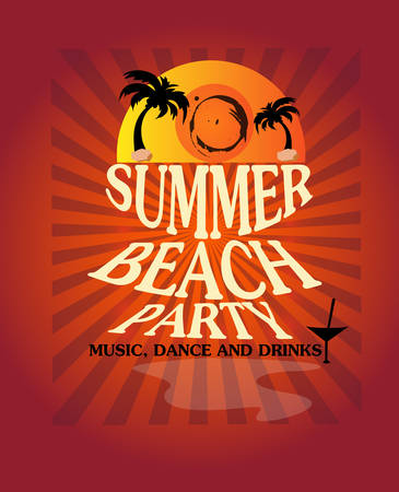 beach party: Summer beach party poster vector