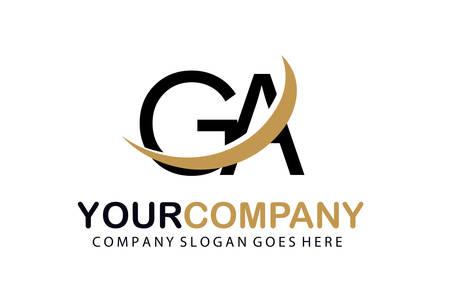 Initial Letter GA Logo Concept