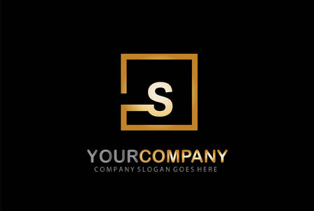 S Letter Logo Design Golden Concept Ilustrace