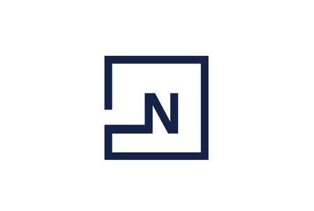 N Letter Logo Design Concept.