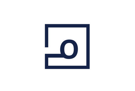 O Letter Logo Design Concept.