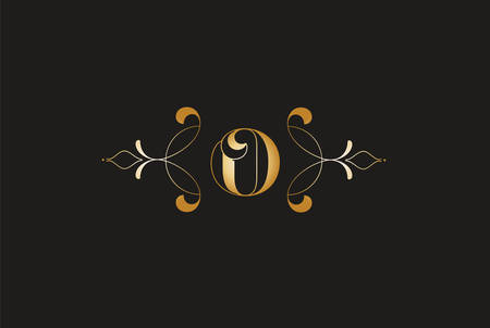 Elegant Letter O Golden Design.Creative Monogram Logo Ilustrace