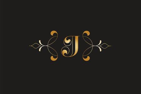 Elegant Letter J Golden Design.Creative Monogram Logo