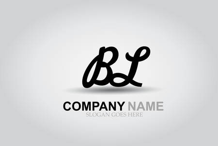 Hand drawn letters B and L style alphabet font.