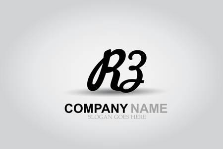 Vector Hand Drawn Letter RZ Style Alphabet Font.