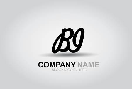 Vector Hand Drawn Letter BI Style Alphabet Font.