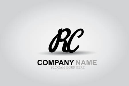 Vector Hand Drawn Letter RC Style Alphabet Font. Ilustrace