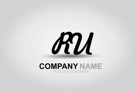 Vector Hand Drawn Letter RU Style Alphabet Font. Ilustrace