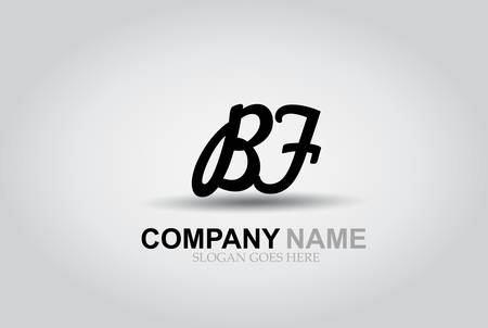 Vector Hand Drawn Letter BF Style Alphabet Font. Ilustrace