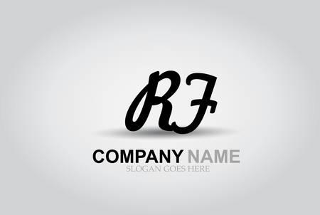 Vector Hand Drawn Letter RF  Style Alphabet Font.