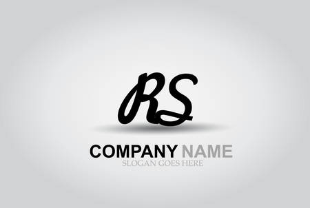 Vector Hand Drawn Letter RS  Style Alphabet Font. Ilustrace