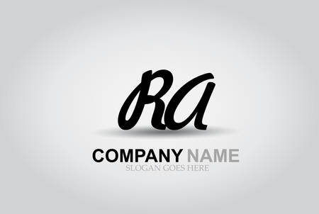 Vector Hand Drawn Letter RA Style Alphabet Font.